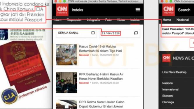 Hoax CIA bongkar jati diri Jokowi melalui paspor