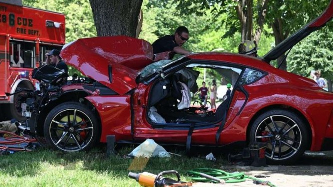 Toyota Supra  2020 kecelakaan.