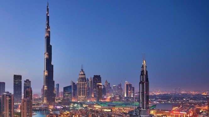 Gedung Tertinggi di Dunia Burj Khalifa. Image via: Burj Khalifa