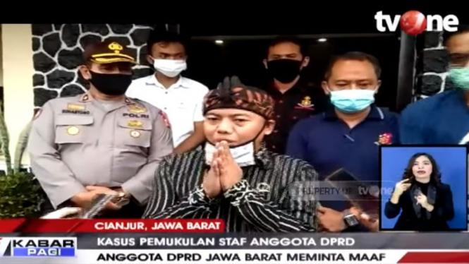 Kasus pemukulan karyawan hotel oleh staf anggota DPRD Jabar.