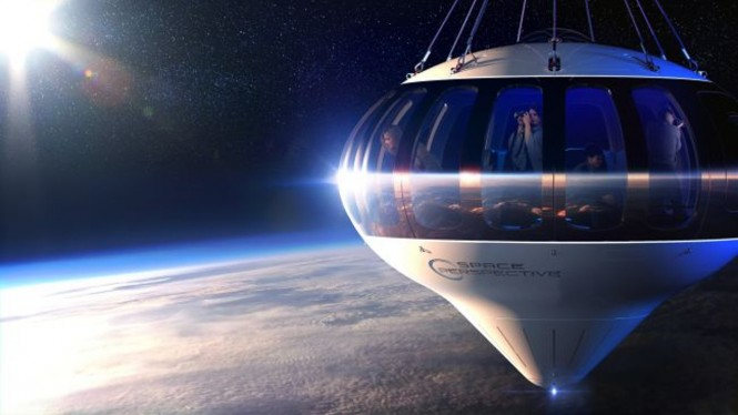 Wisata ke luar angkasa pakai balon hidrogen.