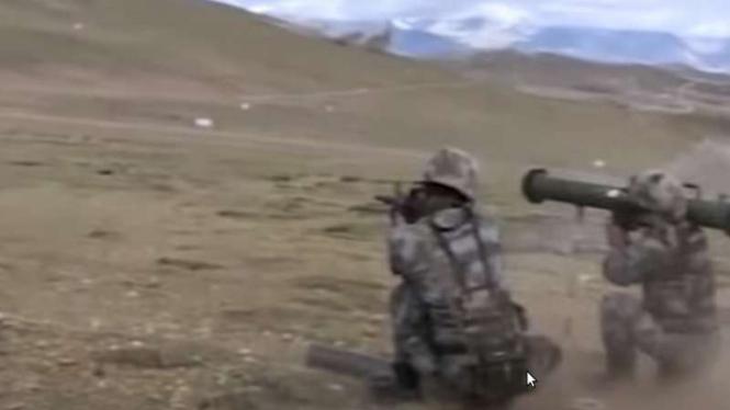 VIVA Militer : Tentara China latihan militer di Ladakh, Lembah Galwan