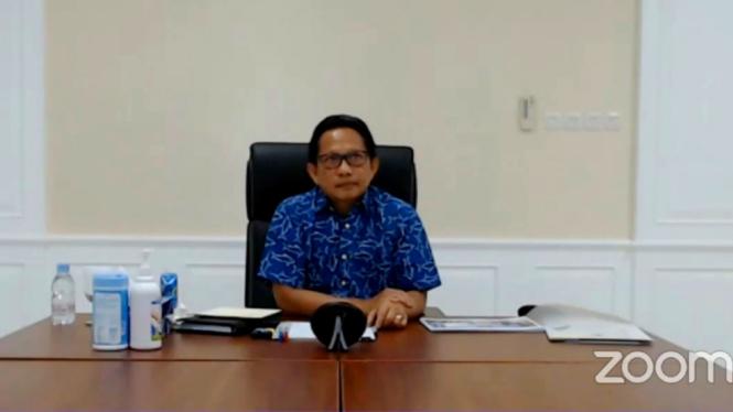 Menteri Dalam Negeri, Tito Karnavian dalam diskusi live streaming zoom Nagara Institute