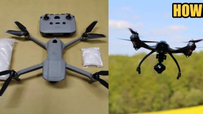 Sebuah drone dijadikan alat transaksi narkoba di Malaysia