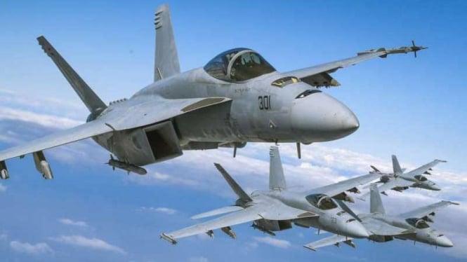 VIVA Militer: Jet tempur Amerika Serikat (AS), F-18 Super Hornet