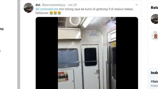 Terkunci di Commuter Line gara-gara ketiduran