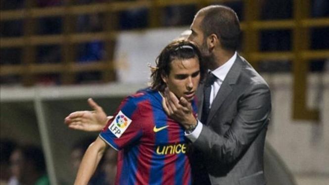 Gai Assulin bersama Pep Guardiola saat di Barcelona