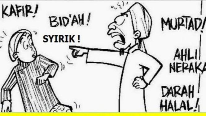 Komik wahabi salafi (Twitter/GusNajb)