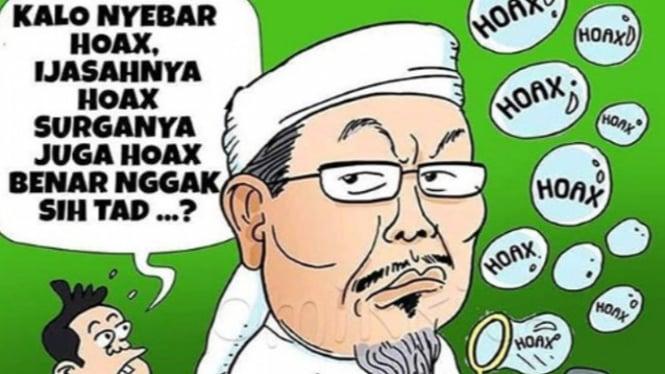 Komik mirip ustaz Zulkarnain (Instagram/komikkitaig)