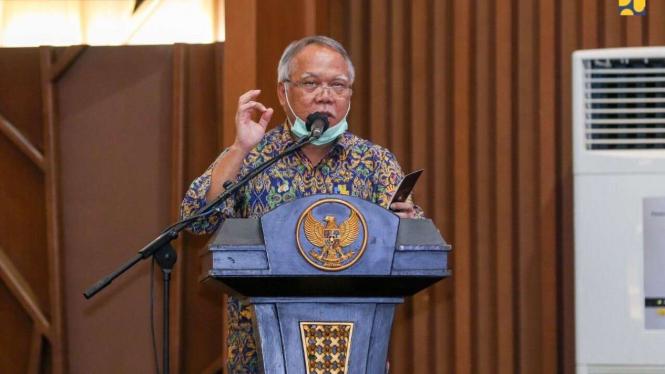 Menteri PUPR Basuki Hadimuljono pada Rapat Kerja Kementerian PUPR 2020