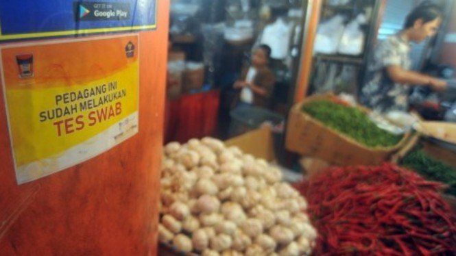 Suasana di Pasar Raya Padang, Sumatera Barat