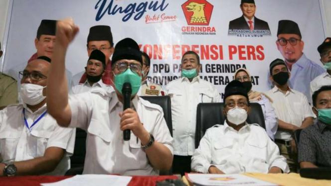 Nasrul Abit dan Indra Catri, resmi di usung Partai Gerindra di Pilkada Sumbar