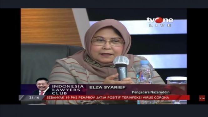 Kuasa Hukum Muhammad Nazaruddin, Elza Syarief.