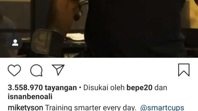 Tangkapan layar video Mike Tyson