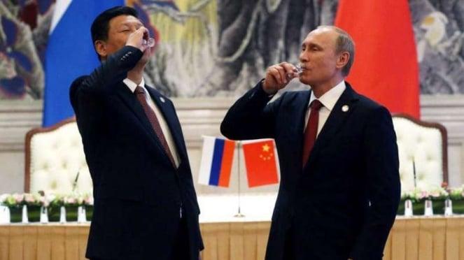 VIVA Militer: Presiden China, Xi Jinping dan Presiden Rusia, Vladimir Putin