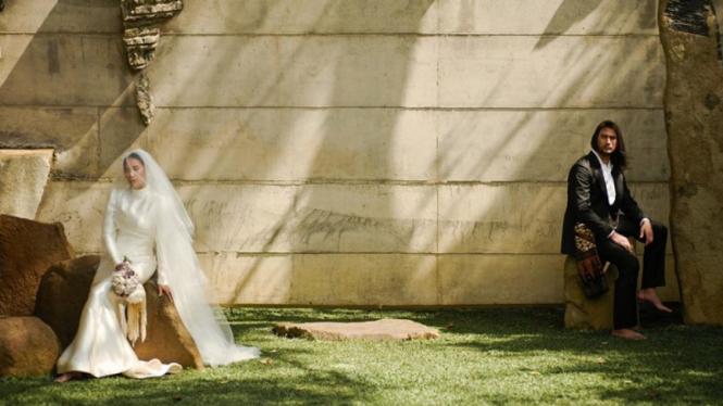 Foto pernikahan Tara Basro dan Daniel Adnan.
