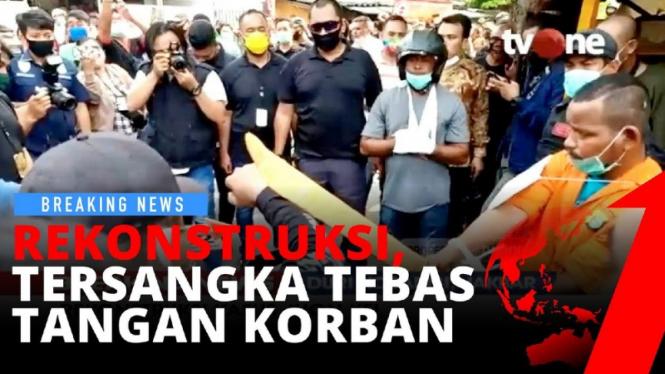 BREAKING NEWS: Rekonstruksi aksi penyerangan kelompok John Kei