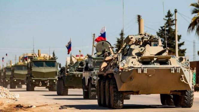 VIVA Militer: Kendaraan lapis baja militer Rusia di Suriah