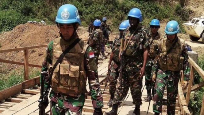 VIVA Militer: Prajurit TNI Satgas Konga XXXIX-B RDB Monusco