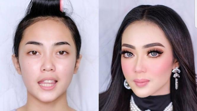 Makeup mirip Syahrini