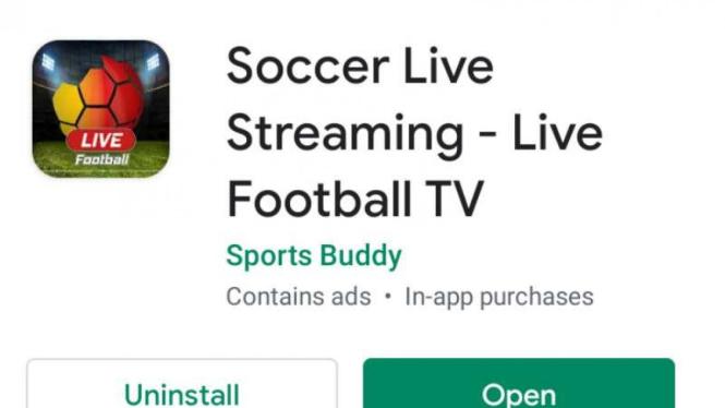 Aplikasi Soccer Live Streaming