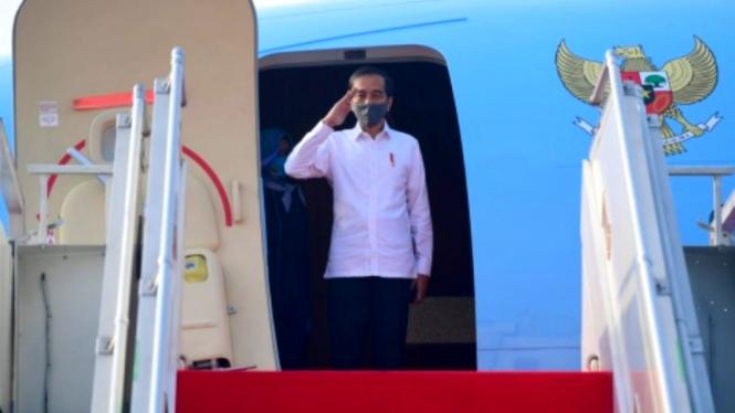 Presiden Jokowi bertolak menuju  Jawa Timur melakukan kunjungan kerja