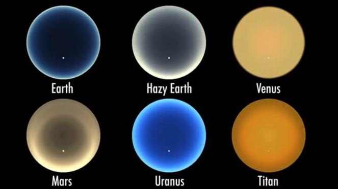Sunset di planet selain Bumi.