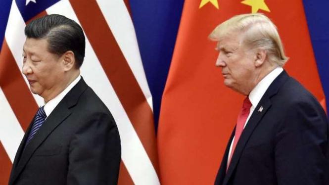 VIVA Militer: Presiden China, Xi Jinping dan Presiden AS, Donald Trump
