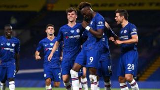 Pemain Chelsea rayakan kemenangan.