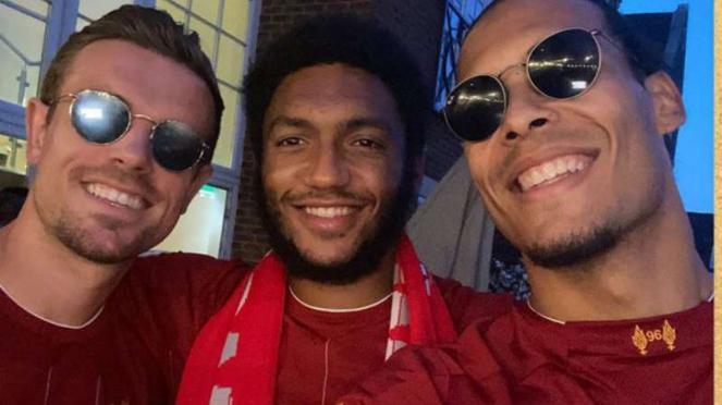 Pemain Liverpool rayakan juara Premier League
