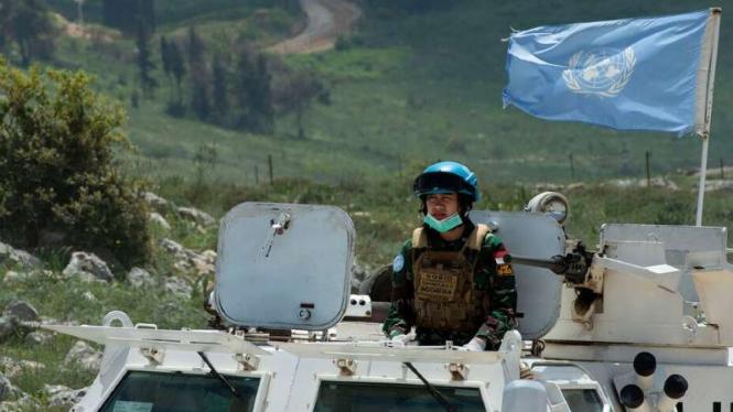 VIVA Militer: Prajurit TNI UNIFIL di perbatasan Lebanon dan Israel.