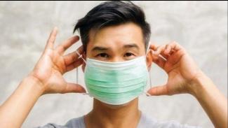 Ilustrasi penggunaan masker.