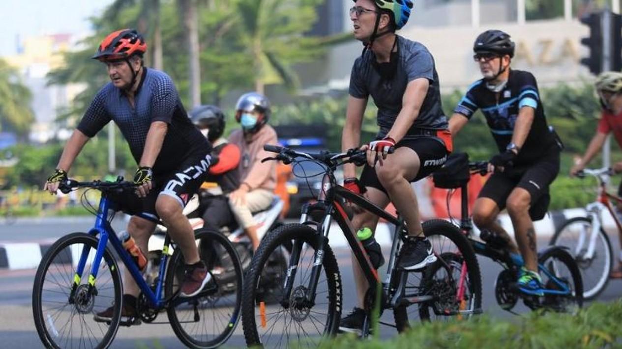 Bersepeda membuat kualitas udara lebih bersih