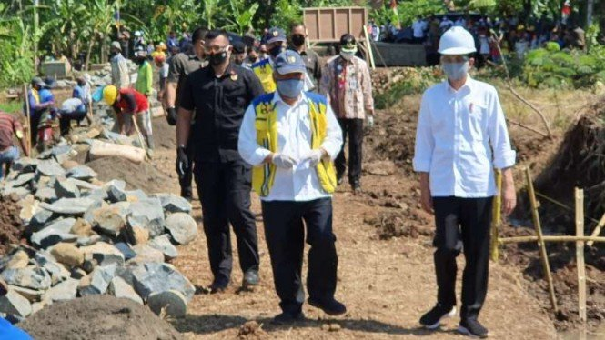 Jokowi kunjungi kawasan industri Kabupaten Batang, Jawa Tengah