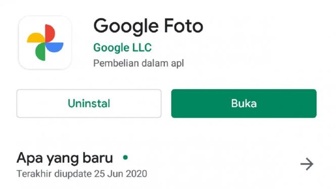 Update terbaru Google Foto