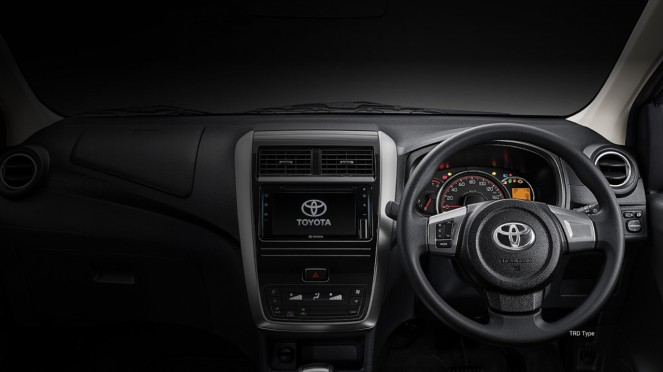 New Touch Screen Head Unit pada Toyota New Agya
