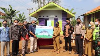 Peresmian Rumah Berkah untuk Negeri di Sukabumi, Selasa (30/6).
