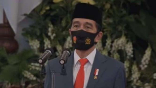 Presiden Jokowi pimpin HUT ke-74 Bhayangkara