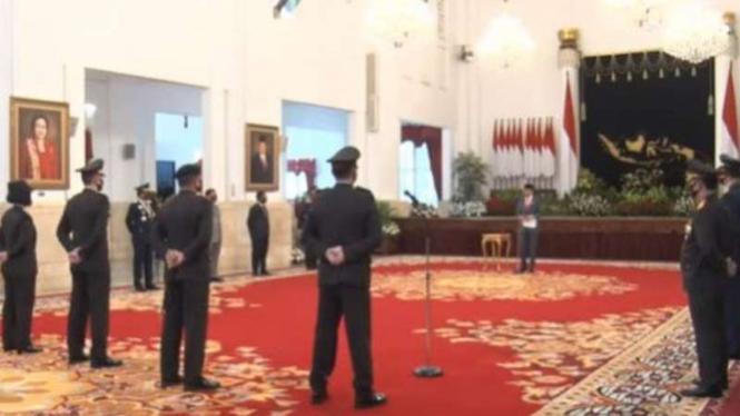 HUT ke-74 Bhayangkara di Istana Negara