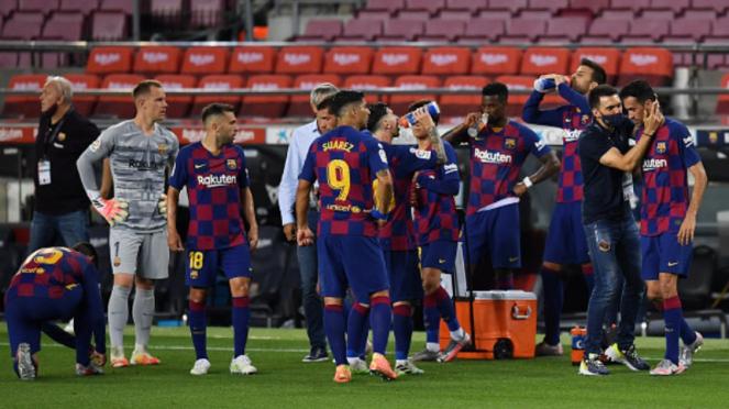 Skuad Barcelona di laga melawan Atletico Madrid