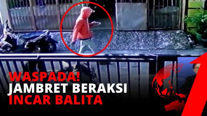 Video aksi jambret merampas anting balita di Tanjung Priok