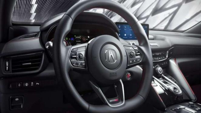 Ilustrasi Airbag di setir mobil Acura TLX