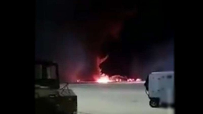 VIVA Militer: Pesawat F-16 jatuh.