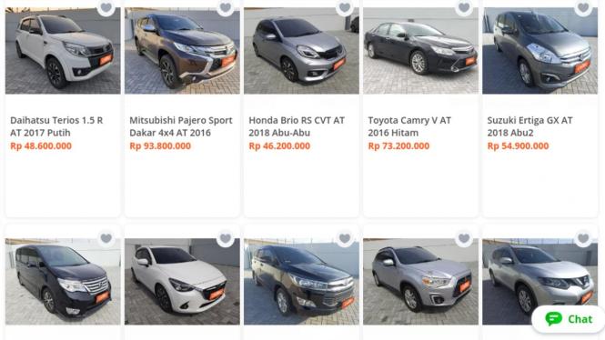 Mobil bekas yang dijual Carro Automall di Tokopedia