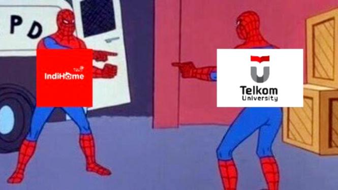 Meme kocak panen keluhan Indihome dan Telkom University viral di media sosial