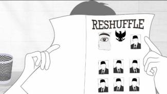 Komik Reshuffle Presiden (Twitter/JaprakUsil)
