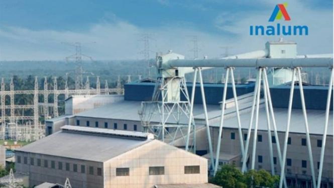 Pabrik Peleburan Aluminium INALUM di Kuala Tanjung, Sumatera Utara.