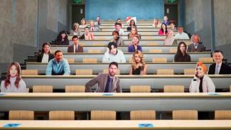 Trik kampus Sunway University buat replika selebriti untuk social distancing
