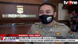 Cegah Penularan COVID-19, Polda Jatim Tutup 3 Ruas Jalan di Surabaya