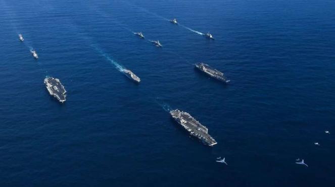 VIVA Militer: Armada laut militer Amerika Serikat di Laut China Selatan